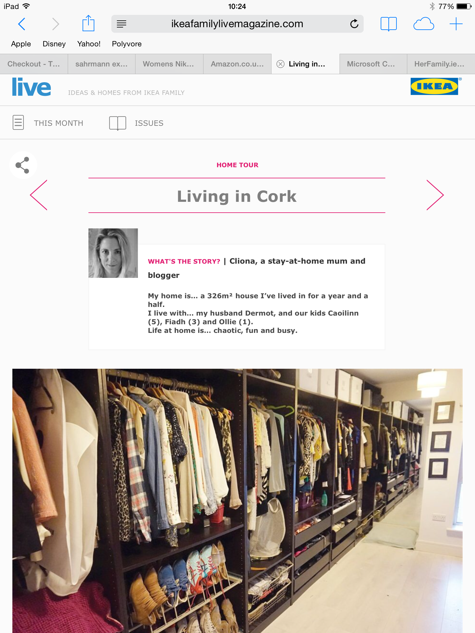 Ikea Live Magazine Feature – quick tidy up!