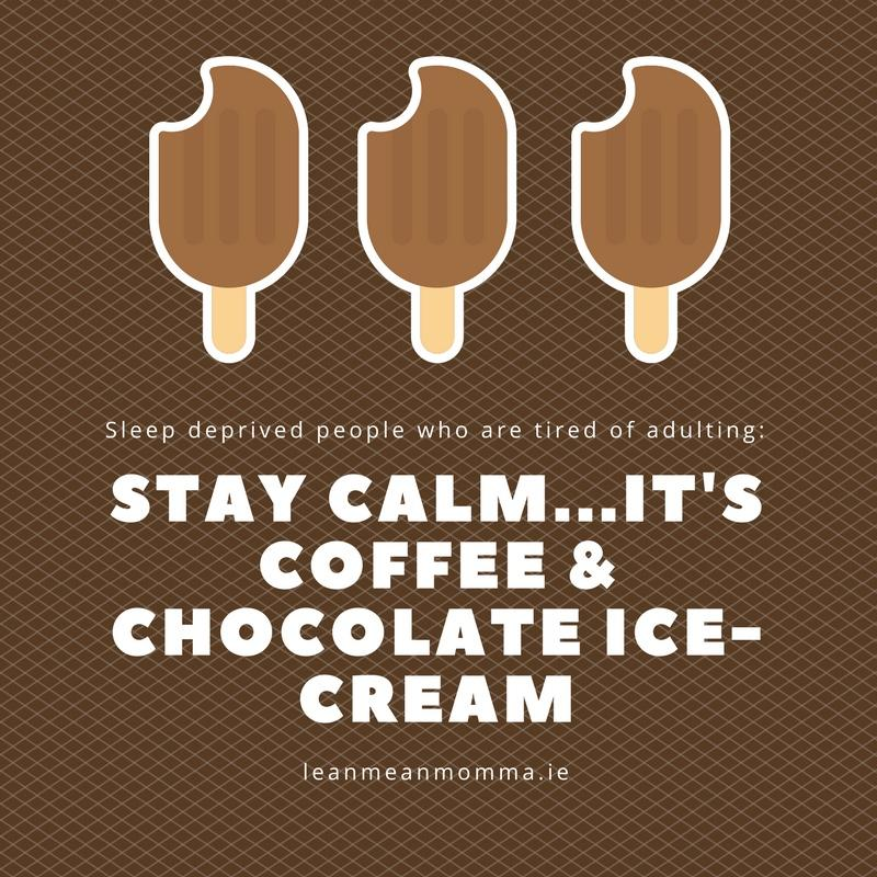 But first coffee…. and chocolate ice-cream!