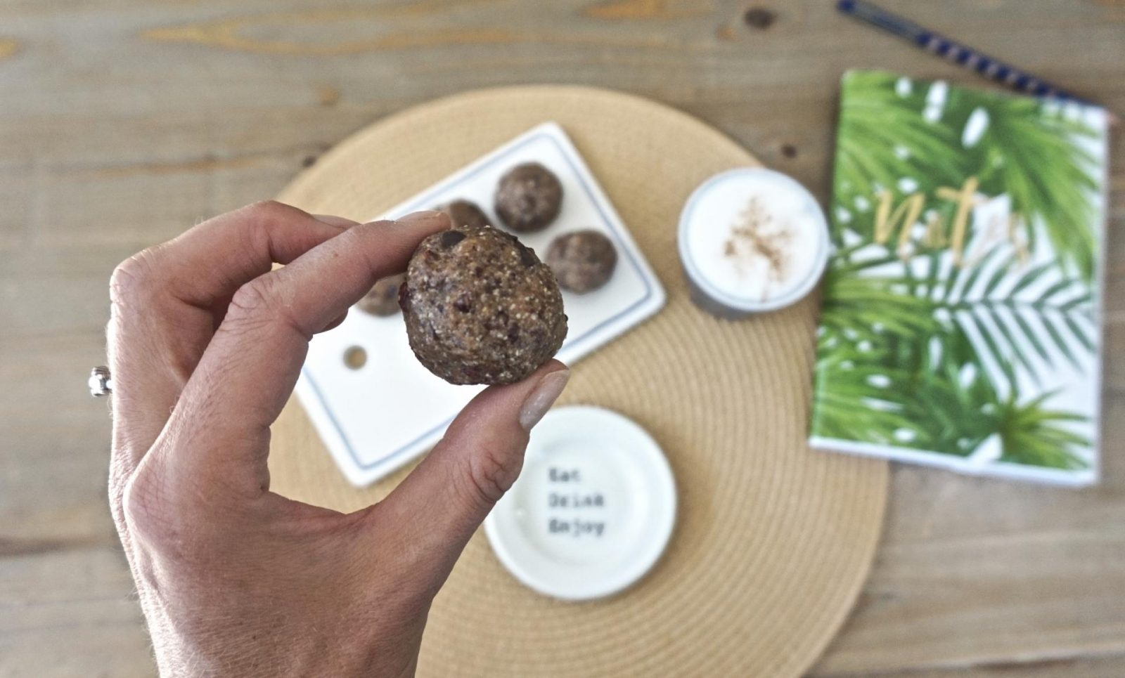 cranberry chocolate chip bliss balls healthy snack leanmeanmomma