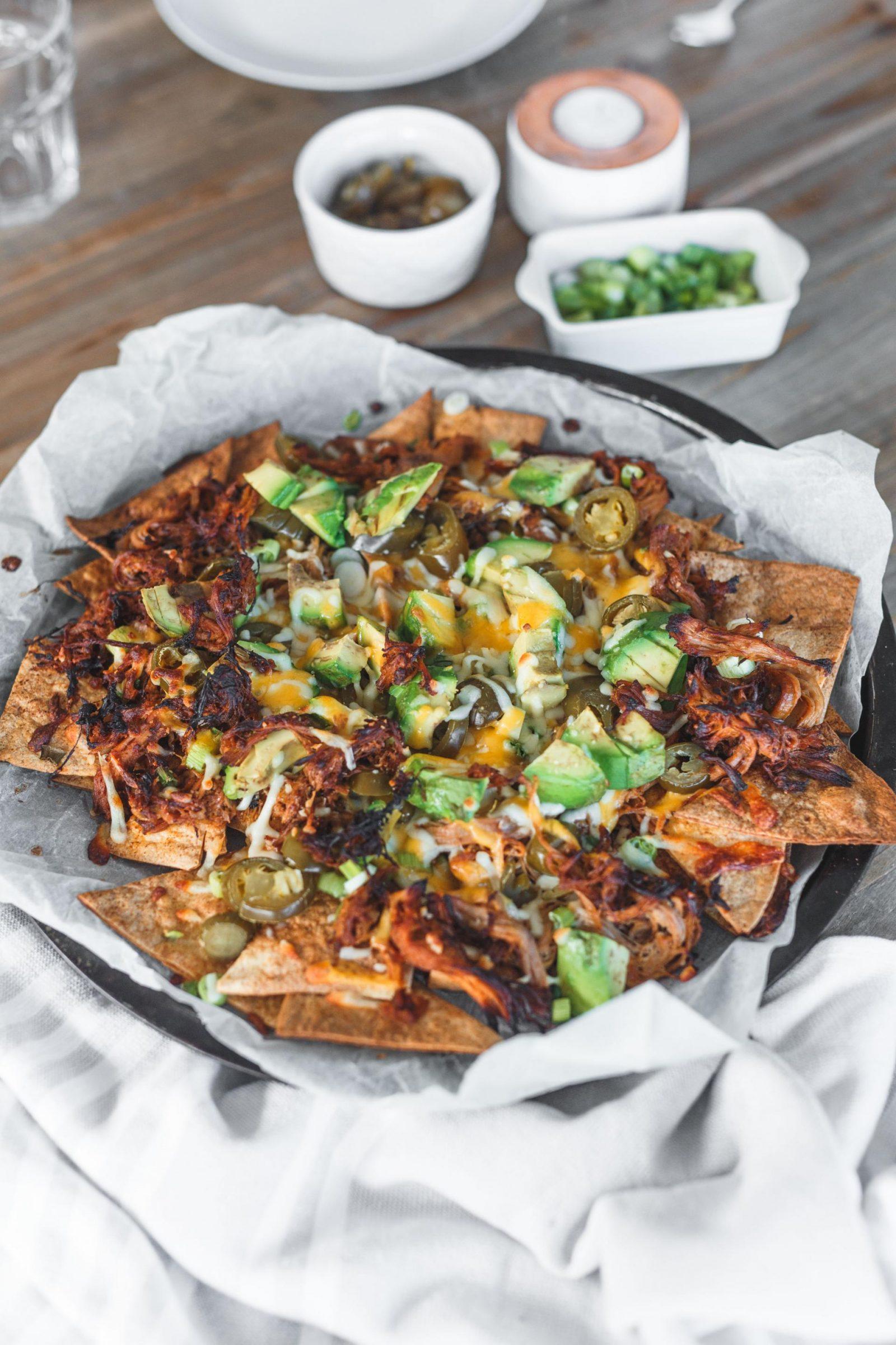 leanmeanmomma pulled pork nachos