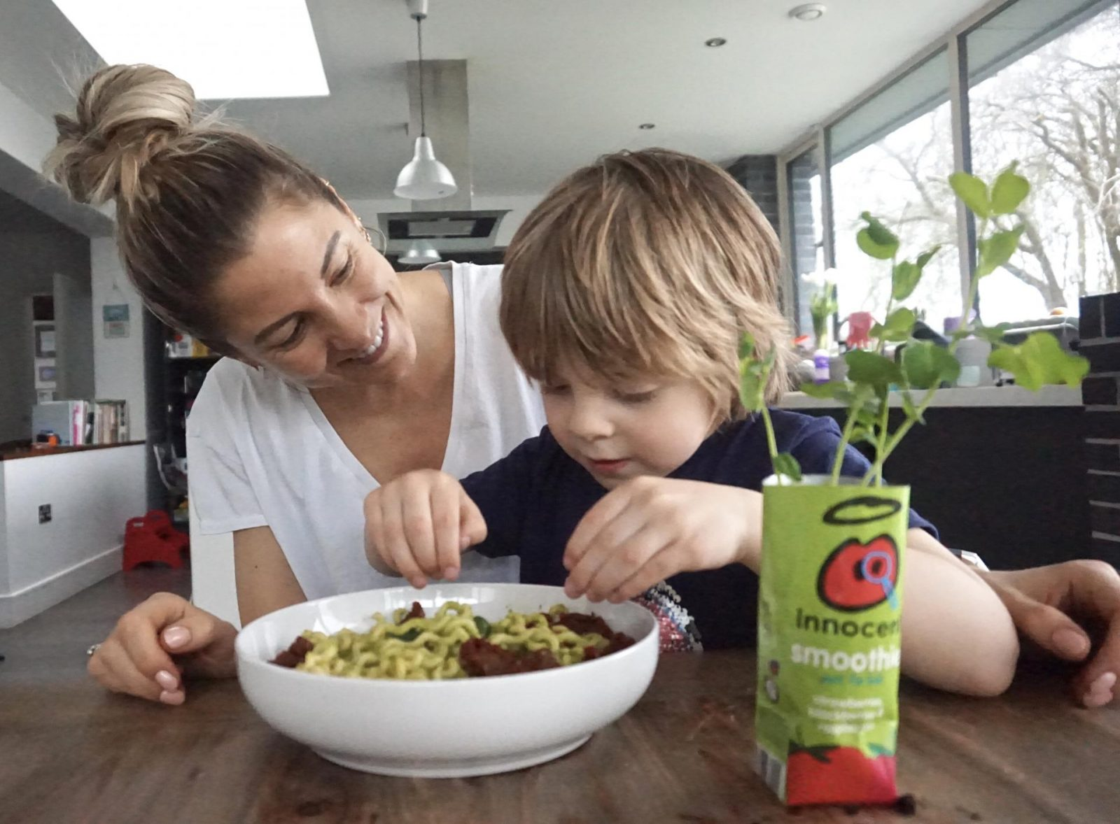 innocent drinks Leanmeanmomma pea pesto big grow