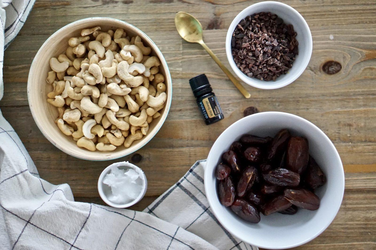 orange chocolate cashew nut balls leanmeanmomma