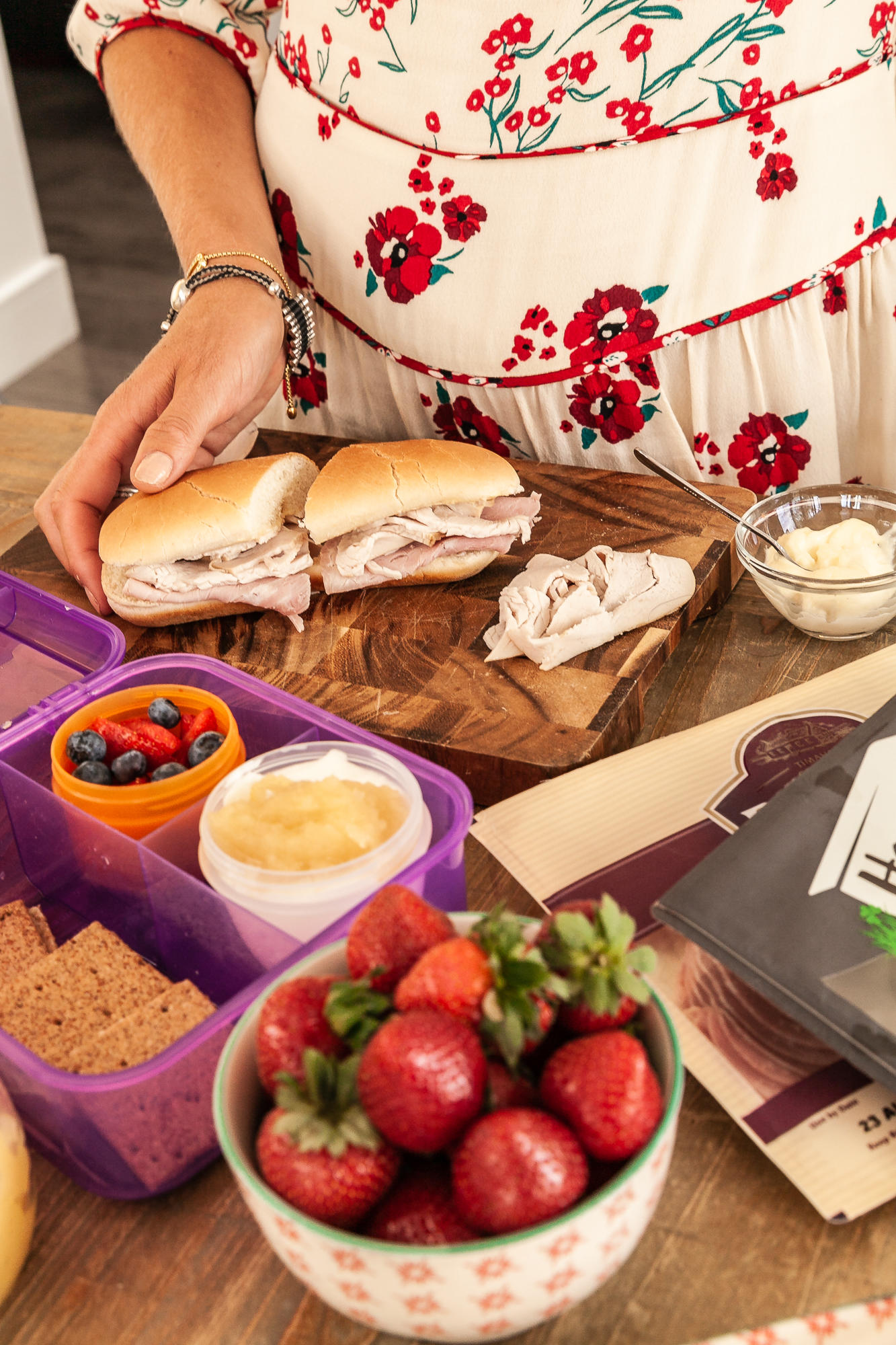 leanmeanmomma Brady ham Homebird lunch box